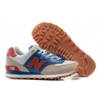 New Balance 574 Suede Classics Mens Royal Red Gold Beige 割引販売