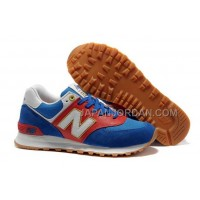 New Balance 574 Suede Classics Mens Royal Red White Gold 割引販売