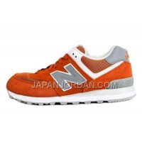 New Balance 574 Suede Womens Orange Grey ホット販売