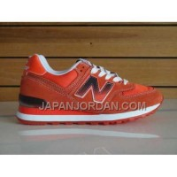 New Balance 574 Womens Black Fire Red ホット販売