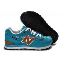 New Balance 574 Womens Blue Brown ホット販売