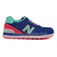 New Balance 574 Womens Blue Cyan ホット販売