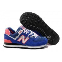 New Balance 574 Womens Blue Pink Red ホット販売