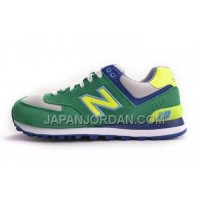New Balance 574 Womens Green Blue Grey ホット販売