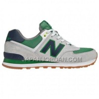 送料無料 New Balance 574 Womens Green White Grey Shoes