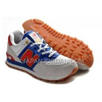 New Balance 574 Womens Grey White Blue ホット販売