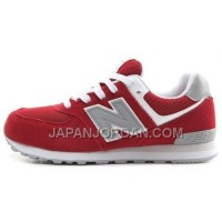 送料無料 New Balance 574 Womens Red Grey Shoes