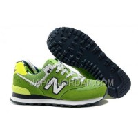 送料無料 New Balance 574 Womens White Green Shoes