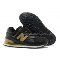 送料無料 New Balance Dragon 574 Womens Black Gold