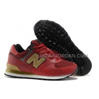 送料無料 New Balance Dragon 574 Womens Red Gold