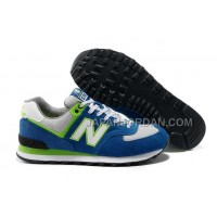 New Balance Yacht Club 574 Classics Mens Teal Lime Green White 割引販売