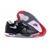 "Nike Air Flight '89 ""Bred"" Black/Cement Grey-Fire Red-White Shoes Free Shipping"