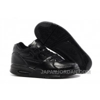 Nike Air Flight '89 All Black Leather Basketball Shoes For Sale Top Deals