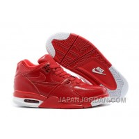 Nike Air Flight '89 Red Leather Basketball Shoes For Sale Authentic