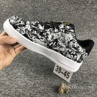 Nike Air Force 1 AF1 UPSTEP LOW BHM 920788 Zebra Shoes Authentic