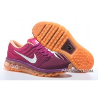Nike Air Max 2017 Flyknit Women Orange Purple Discount