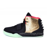 "Nike Air Yeezy 2 ""Imperial"" Black Gold Glow In The Dark Online"