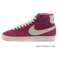 Nike Blazer High Light Plum Red Women Discount