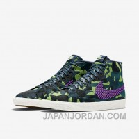 NIKE BLAZER MID JACQUARD 2017 Spring New 807382-200 Women Black Purple For Sale