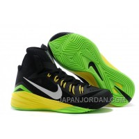Nike Hyperdunk 2014 Black/Metallic Silver/Electric Green For Sale Online
