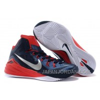 "Nike Hyperdunk 2014 ""USA Away"" Obsidian/White-University Red For Sale Free Shipping"