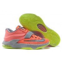 "Nike Kevin Durant KD 7 VII ""35000 Degrees"" Bright Mango/Space Blue/Light Magnet Grey For Sale Super Deals"
