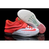 "Nike Kevin Durant KD 7 VII ""Christmas Egg Nog"" White/Red For Sale Online New Release"