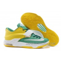 "Nike Kevin Durant KD 7 VII ""Draft Day"" Apple Green/Yellow Strike-White For Sale Free Shipping"