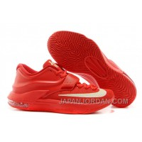 "Nike Kevin Durant KD 7 VII ""Global Game"" Action Red/Metallic Silver For Sale Online"