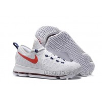 """Nike KD 9 """"USA"""" White/University Red-Race Blue Authentic"""