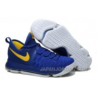 "Nike KD 9 ""Golden State Warriors"" Blue Yellow White Lastest"
