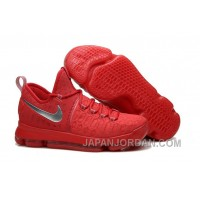 Nike KD 9 Sport Red Silver Basketball Shoes Cheap To Buy