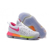 Nike KD 9 White Pink Volt Yellow Cheap To Buy
