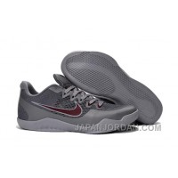 """Nike Kobe 11 """"Aces"""" Cool Grey/Team Red-Wolf Grey Cheap To Buy"""