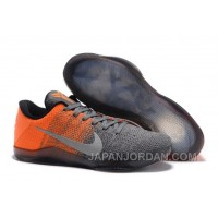 "Nike Kobe 11 Elite Low ""Easter"" Grey Orange Authentic"