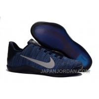 Nike Kobe 11 Flyknit Blue Basketball Shoes Cheap To Buy