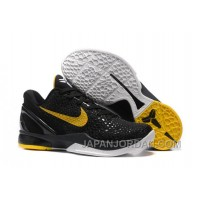 Nike Zoom Kobe 6 Black Yellow Basketball Shoes Top Deals