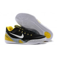 "Nike Kobe 9 EM ""Away"" Black-Yellow/Elephant Print Grey For Sale Authentic"