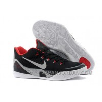 Nike Kobe 9 EM Black/White-Laser Crimson-Wolf Grey For Sale Authentic