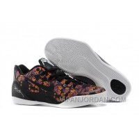 "Nike Kobe 9 EM ""Floral"" Black-Court Purple/Tour Yellow For Sale New Release"