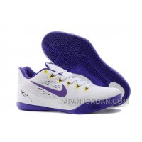 "Nike Kobe 9 EM ""Home"" White/Court Purple For Sale Discount"