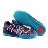 "Nike Kobe 9 EM ""Independence Day"" White/Metallic Silver-Hyper Cobalt-Action Red Cheap To Buy"