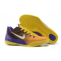 Nike Kobe 9 Low EM Court Purple/Yellow-White For Sale Free Shipping