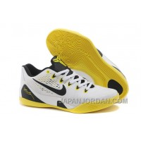 Nike Kobe 9 Low EM White Black Yellow For Sale Discount