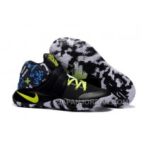 "Nike Kyrie 2 ""Camo"" Black/Neon Green Basketball Shoes For Sale"
