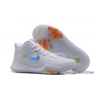"cheap for discount 99a20 414cb Outlet Nike Kyrie 3 ""Time To Shine"" White Metallic Silver-Ice Blue"
