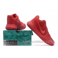 Nike Kyrie 3 Mens BasketBall Shoes All Red Lastest KjrNwJ