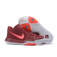 Nike Kyrie 3 Mens BasketBall Shoes Burgundy Top Deals 3xSexA