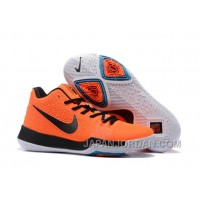 Nike Kyrie 3 Mens BasketBall Shoes Orange Black Christmas Deals Wryzmm4