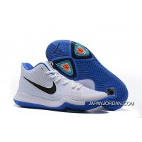 "Nike Kyrie 3 ""Duke"" White Blue Black On Sale Best"